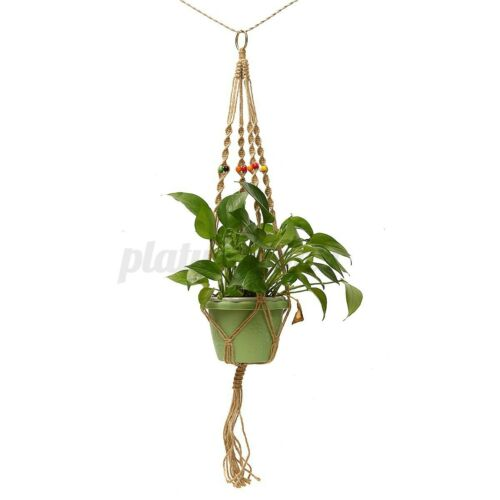 42/'/' Pot Garden Holder Plant Hanger Flower Legs Hanging Macrame Rop