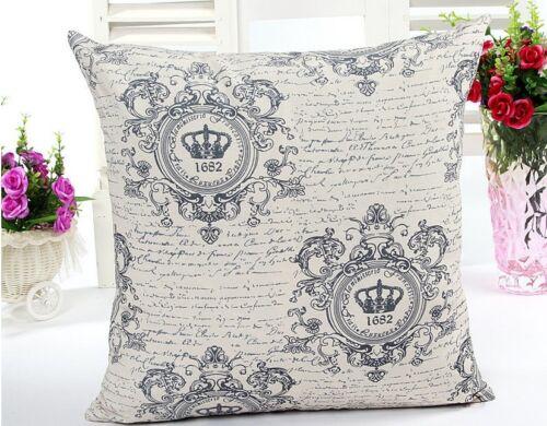 45 cm Large Cotton Linen Throw Cushion Cover Pillow Case Home Decor 45