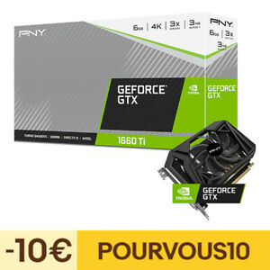 PNY Carte Graphique GeForce GTX 1660 Ti Single Fan 6GB
