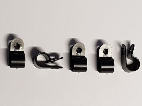 10 Stück Kabelklemme 11,1 mm Kabelschelle aus Kunststoff schwarz Kabel Klemme