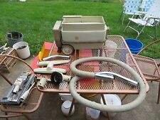 Vintage General Electric GE Canister Vacuum With Attachments Model P3VT2