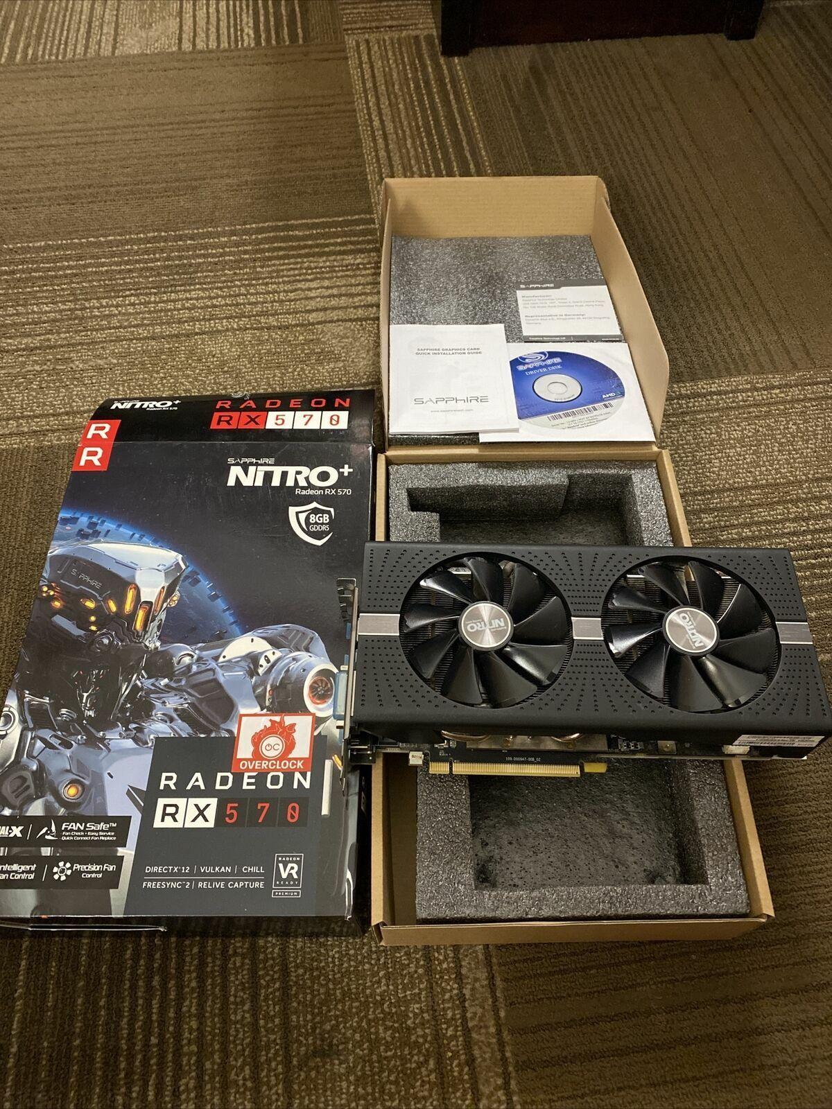 SAPPHIRE Radeon NITRO+ RX 570 8GB GDDR5 PCI-Express Graphics Card