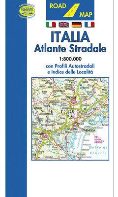 Italia Cartina Autostradale.Italia Atlante Stradale Tascabile Scala 1 800 000 Carta Mappa Belletti Ebay