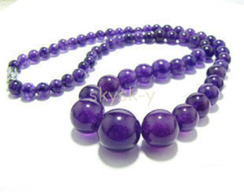 """Wholesale 6-14mm multicolor gemstone beads Jewelry Necklaces 18/"""" AAA"""