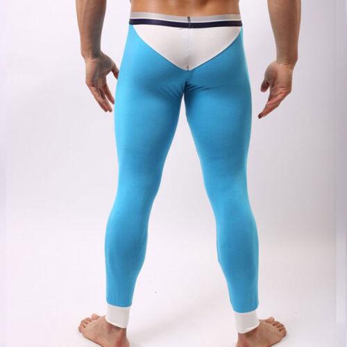 Men Modal Open Fly Thermal Long Johns Legging Pants Winter Warm Underwear New