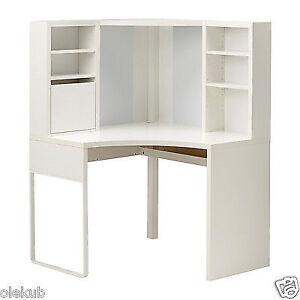 Ikea Micke Desk Table Computer Corner Work Station White