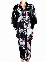 Women's Kimono Japanese Gown Vintage Yukata Haori geisha Costume Dress Obi Robes