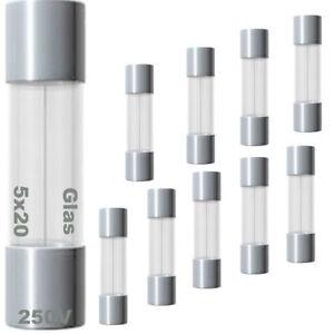 2A 250V Glassicherung T2AL250V 2 Amp Träge 5mm x 20mm