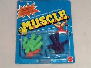 Vintage-M-U-S-C-L-E-muscle-men-RARE-Blue-Claw-4pack-sealed