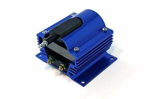 External-Ignition-Coil-50KV-Aluminum-housing-Blue-12-Volt
