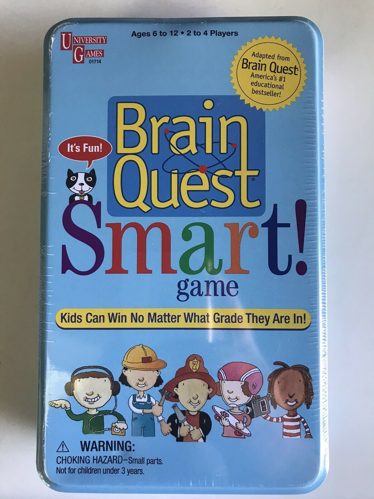 NEW Brain Quest Smart Game Grades 1 -6 SEALED in Tin Box ~ Educational 2