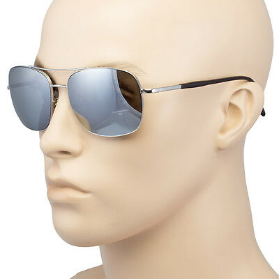 Classic Retro Mens Fashion Metal PILOT/'s Vintage Designer Silver Sunglasses