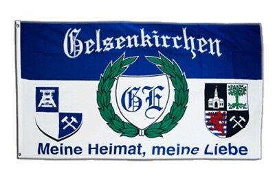 Flagge Fanflagge Gelsenkirchen 2 90 x 150 cm Die Nummer 1 im Pott