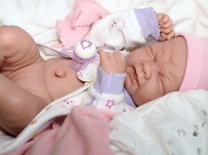 034-CUTIE-034-BABY-GIRL-Berenguer-Life-Like-Reborn-Preemie-Pacifier-Doll-Extras
