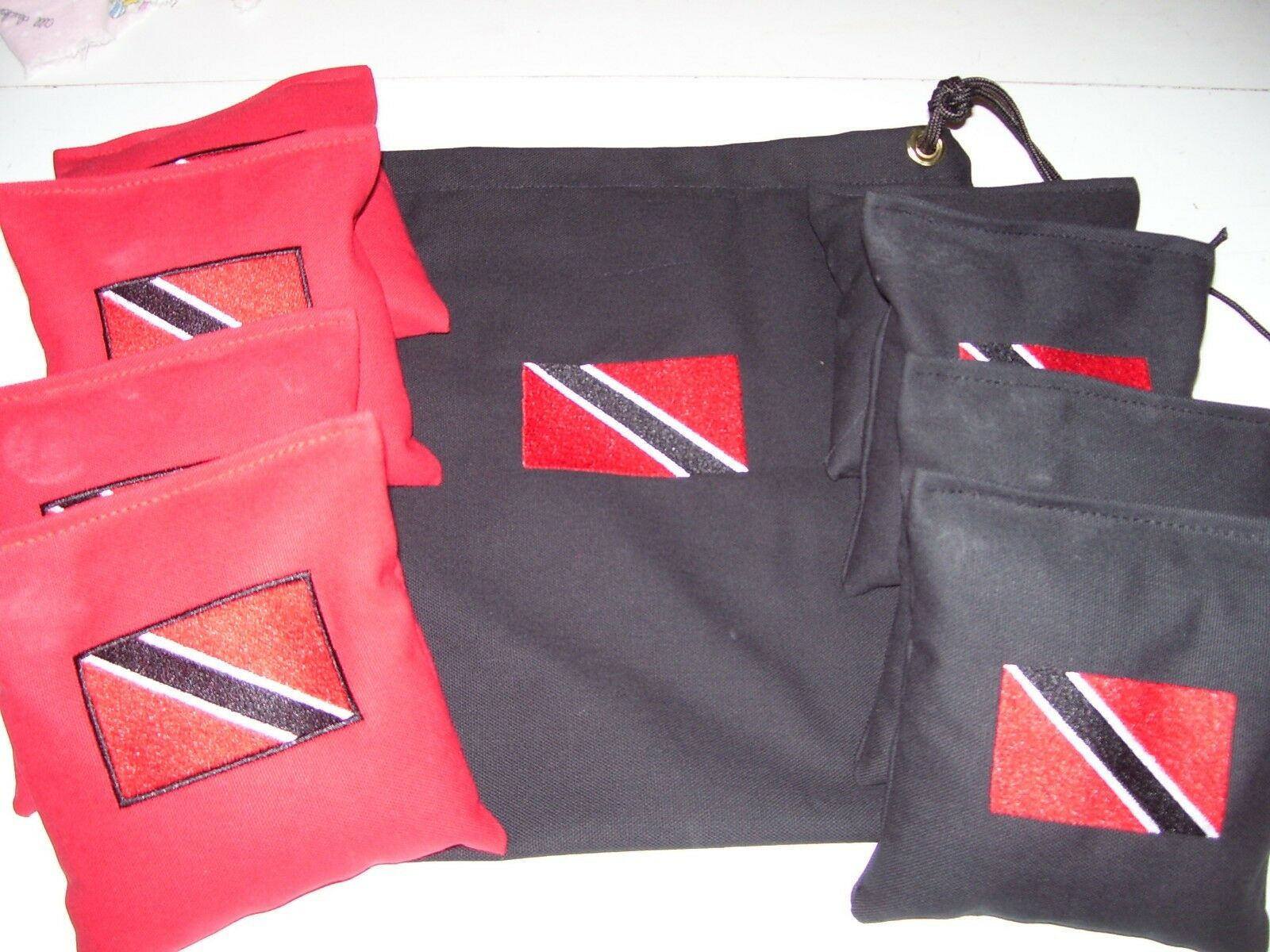 Trinidad Embroidered  Cornhole Corn Hole Bags With Storage Bag  factory direct sales