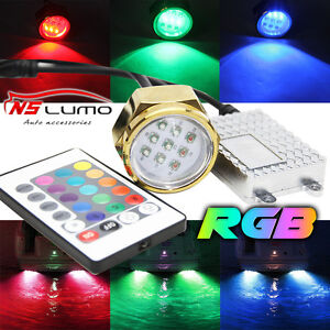 Luce A Led Per Barca.27w Rgb Ip68 Led Drain Plug Light Boat Marine Underwater
