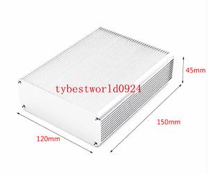Nuevo 1pc 150*120*45mm Blanco instrumento electrónico Caja De Metal//Caja De Aluminio
