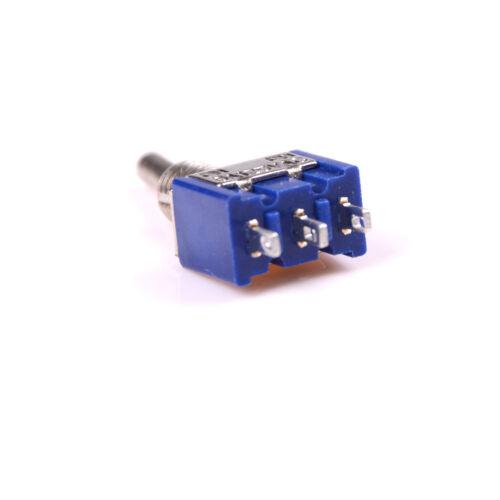 5pcs MTS-102 3 Pin 2 Position SPDT ON-ON 6A 125VAC Miniatur Kippschalter xfXUI