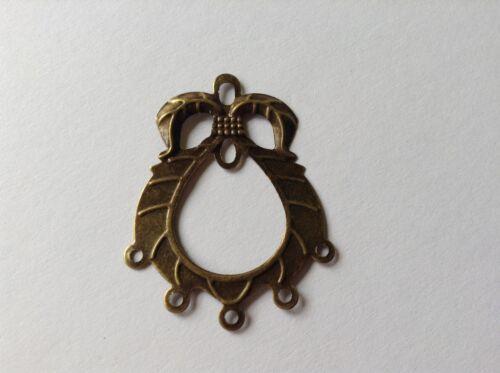 ANTIQUE GOLD metal fine earring chandelier connectors BULK pack 50 UK seller E91