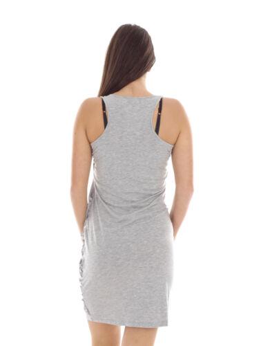 Reken Maar Sommerkleid Trägerkleid Shirtkleid grau Reißverschluss