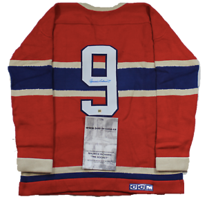 MAURICE-RICHARD-SIGNED-Wool-CCM-JERSEY-W-COA-Limited-Very-RARE-autographed