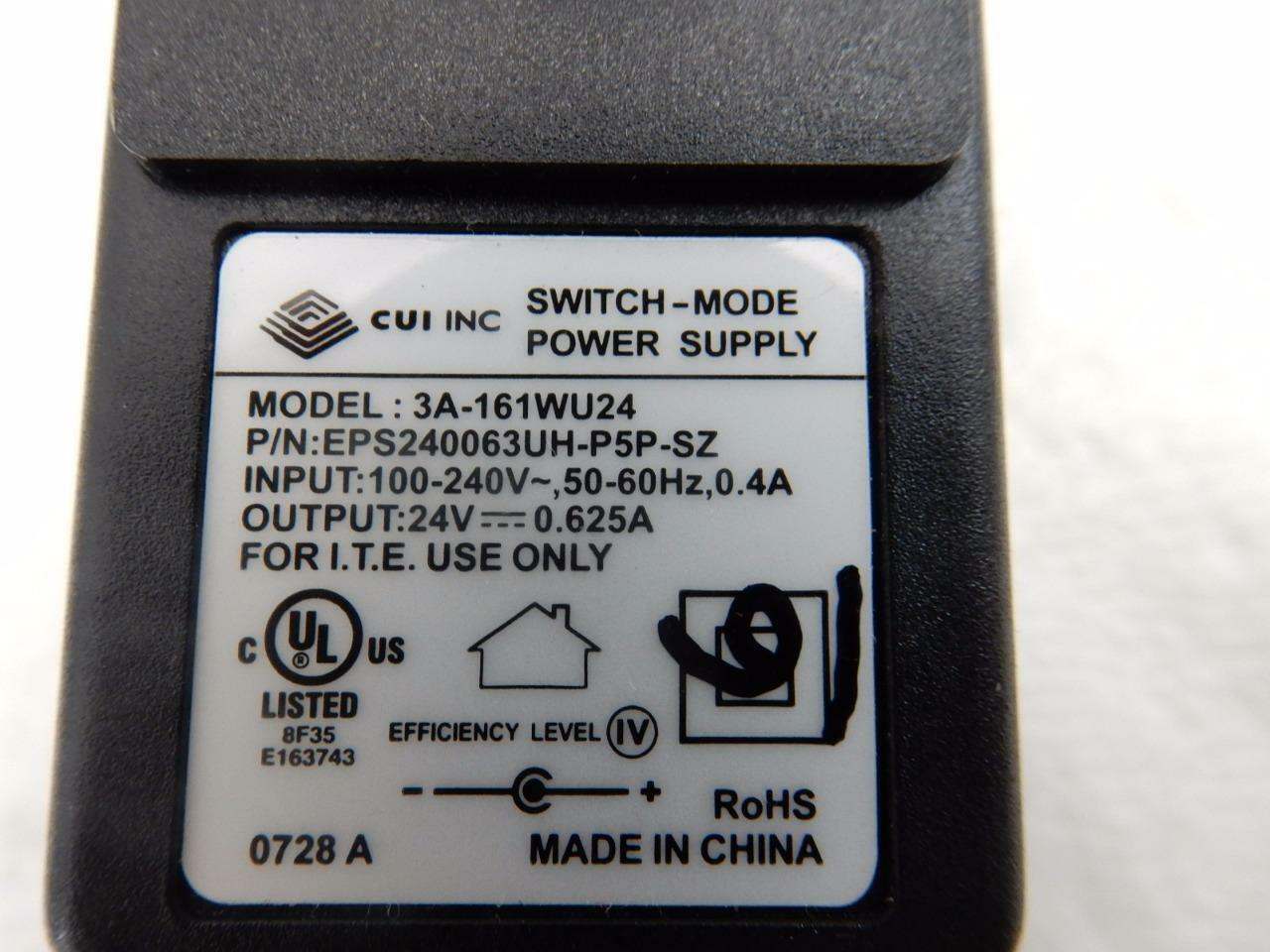Cui Switch Mode Power Supply Adapter 24v 0625a 3a 161wu24 Ebay 24 Volt 30 Amp Single Output Norton Secured Powered By Verisign