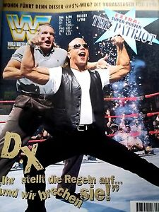 WWF-WWE-Magazin-1-98-1-1998-deutsch-Wrestling-The-Patriot-Riesenposter
