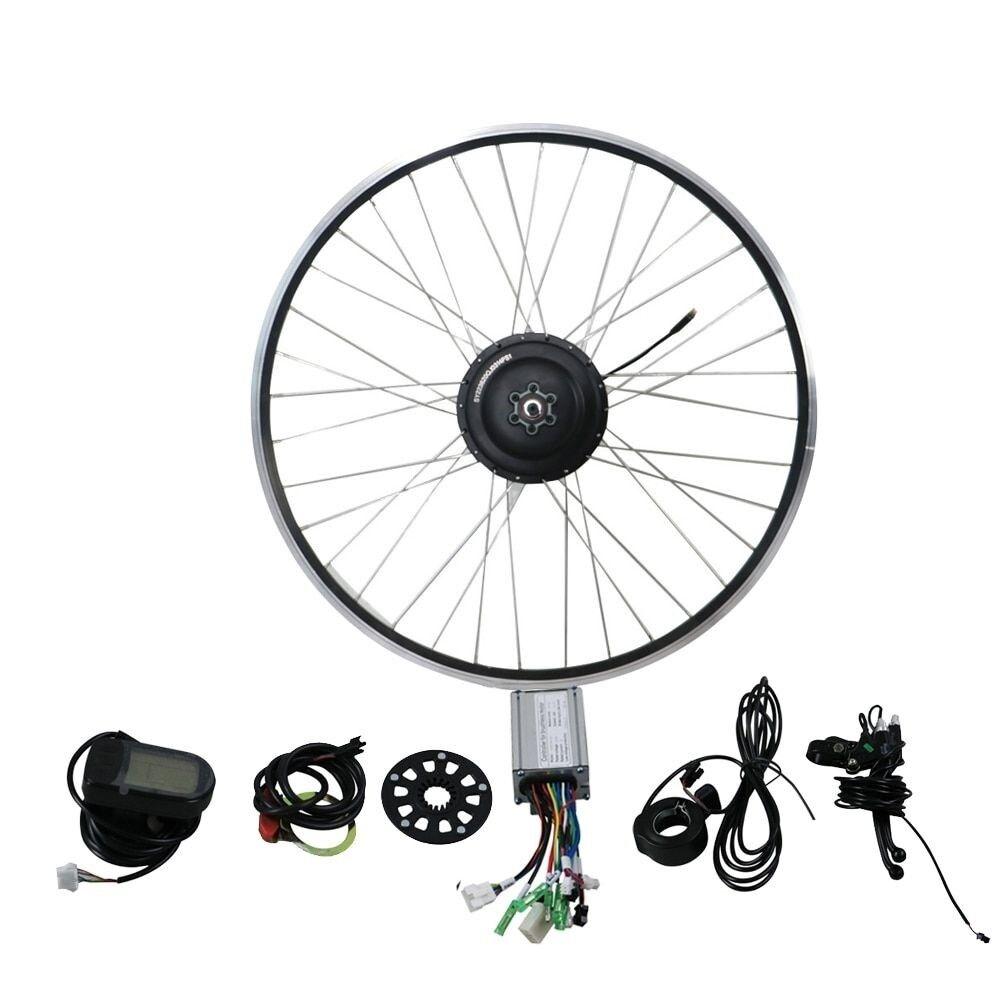 Electric Bicycle Rear Wheel Cassette Hub Motor 36V 500W Conversion Kit Display