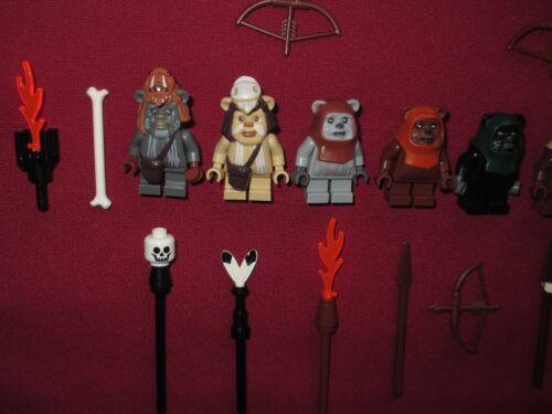LEGO Star Wars minifigures Ewoks LOT Teebo,Logray,Chirpa,Wicket,Wunko,Tippet