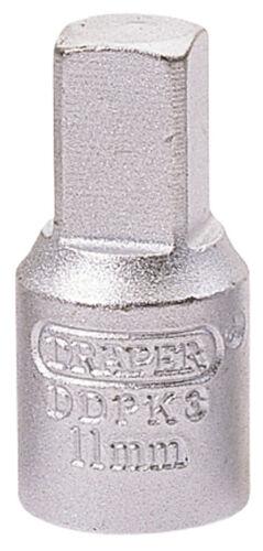 Genuine DRAPER 11mm Square 3//8 Square Drive Drain Plug Key38322