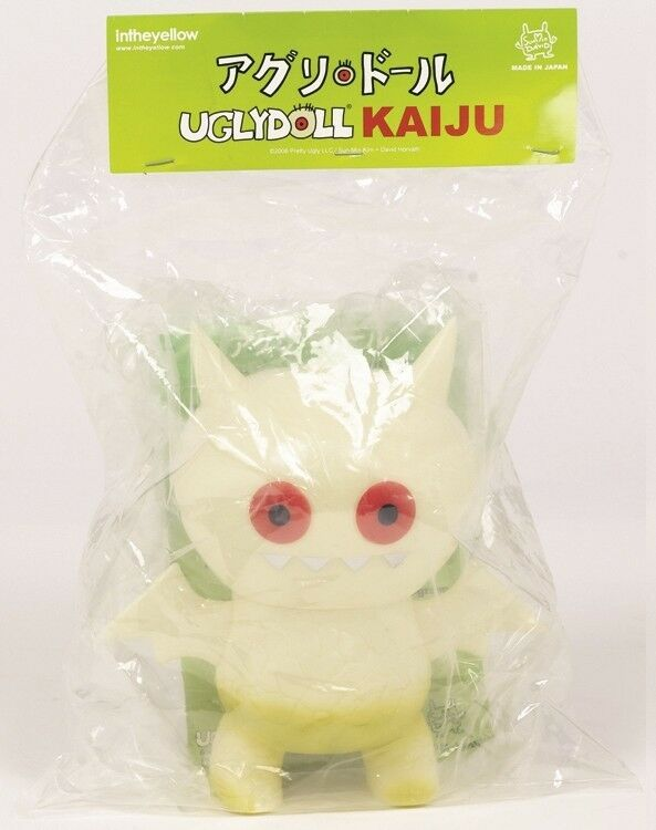2008 Exclusivos   glow-in-the Oscuro Ice-bat Kaiju Vinilo Uglydoll   a sólo 50 existen