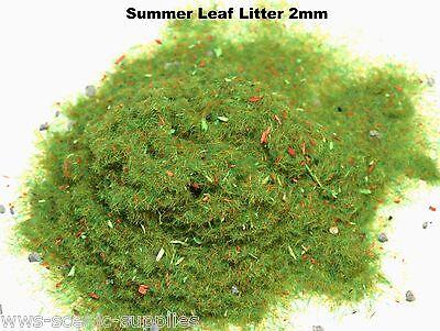 WWS 2mm Summer Leaf Litter Flock Static Grass Hornby Peco Railway Scenery