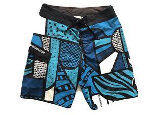 QUIKSILVER-Men-Board-Shorts-Boardies-Blue-Black-Size-30