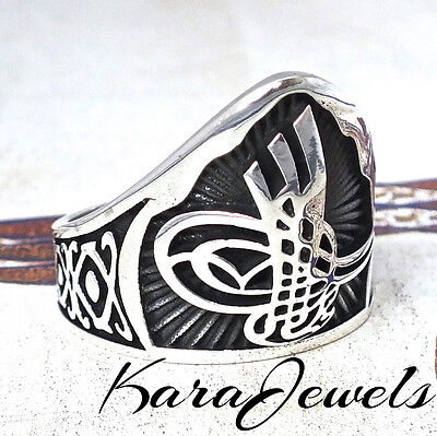 Thumb Ring 925 Sterling Silver Archers Ring Ottoman Turkish Jewelry Zihgir
