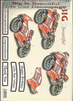 Racing Cars A4 Die Cut 3D Decoupage Sheet 051-704