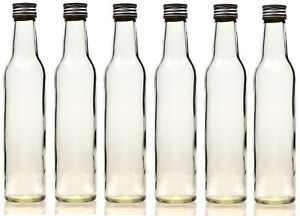 20 x 250 ml leere glasflaschen schnapsflasche l flasche mit verschluss 0 25l ebay. Black Bedroom Furniture Sets. Home Design Ideas