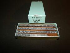 100 Pieces Metal Type 18 30