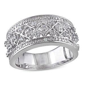 1//8 cttw, G-H,I2-I3 Size-5.25 Diamond Wedding Band in 14K White Gold