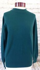 James Pringle Weavers Green Pure New Wool Mens Turtle neck Sweater Top Size 38
