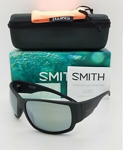 NEW-Smith-Dockside-Sunglasses-Matte-Black-ChromaPop-Polarized-Platinum-219-NIB