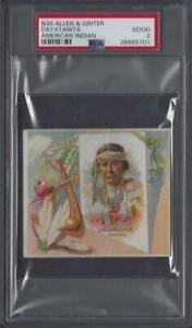 1888-N36-Allen-amp-Ginter-American-Indian-Cayatanita-Graded-PSA-2