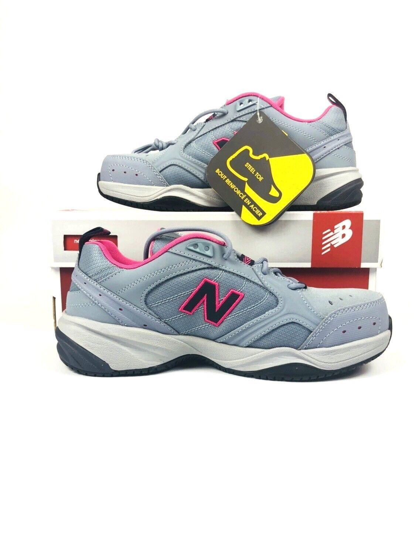 NEU Balance Steel Toe 627 Damens's Grau Blau Azalea Suede WID627GP