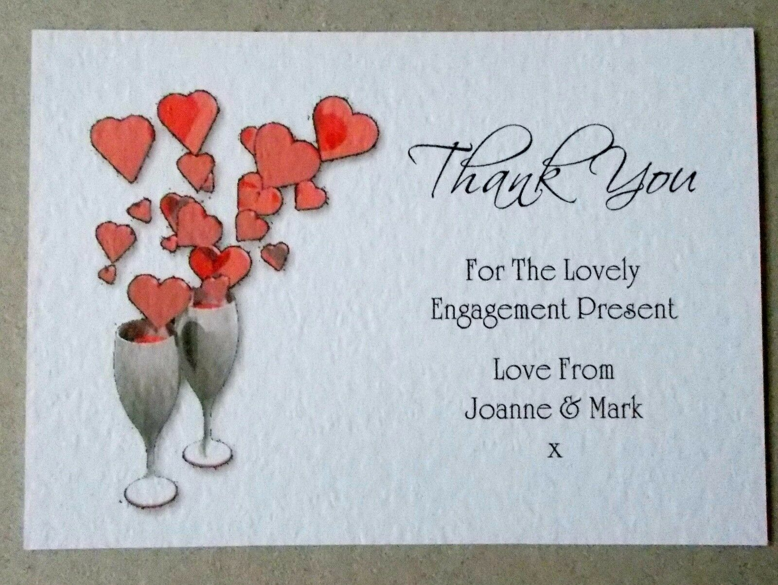 Personalised Engagement Thank You Cards 5 10 15 20 25 25 25 30 35 40 45 50 to 100 SG aac76d
