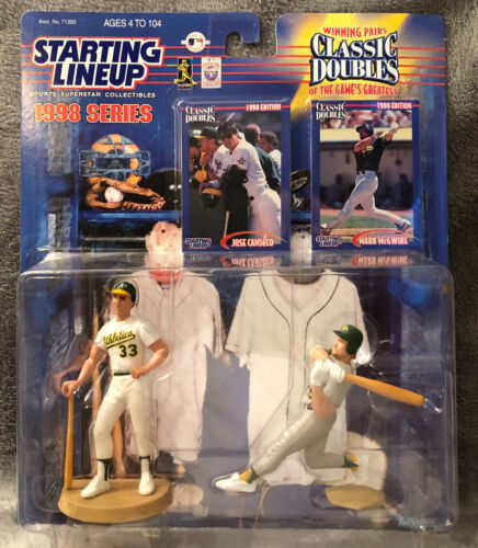 1998 Starting Lineup SLU Classic Doubles MARK MCGWIRE /& JOSE CANSECO Athletics