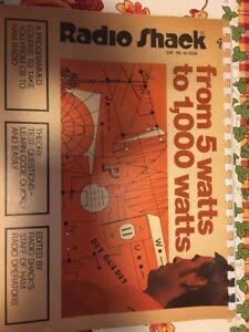 RADIO-SHACK-FROM-5-WATTS-TO-1000-WATTS-Vintage-1974