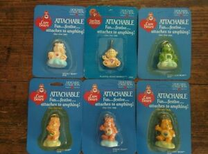 1985-Vintage-Care-Bears-Figure-Attachable-Keychain-Carded-MOC-Sealed-Lot-FREE-SP