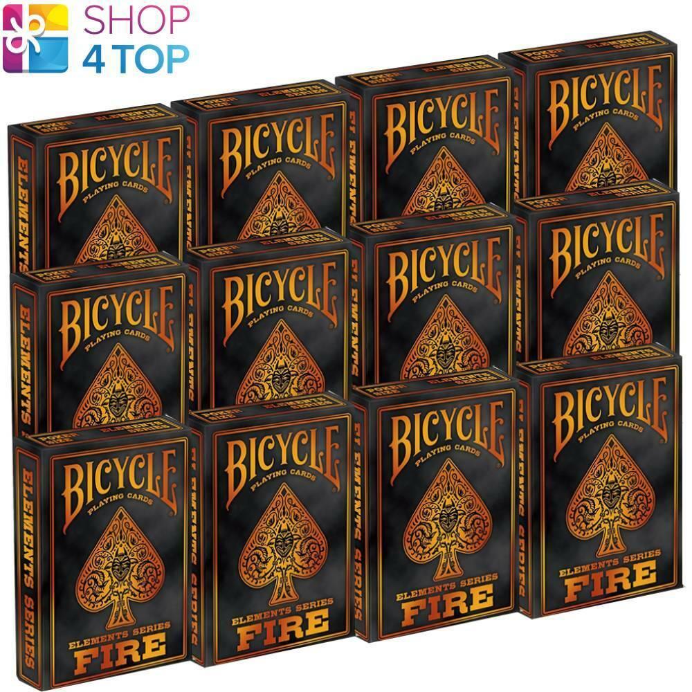 12 Cubiertas Bicicleta fuego elementos jugando a las Cochetas Serie Naranja Rojo