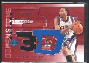 SHAWN-MARION-2004-05-UPPER-DECK-UD-DIMENSIONS-3D-3DW10-GAME-JERSEY-SUNS-SP