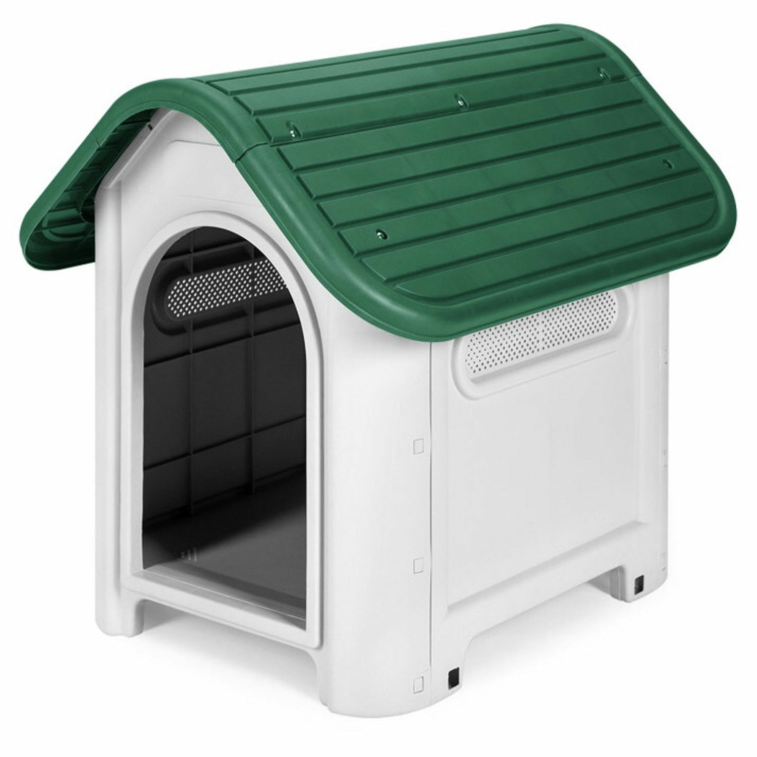 NEW PLASTIC STRONG DURABLE DOG PUPPY PET DELUXE KENNEL HOUSE INDOOR OUTDOOR