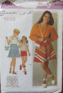 Simplicity-Sewing-pattern-no-7505-girls-skirt-and-top-size-8